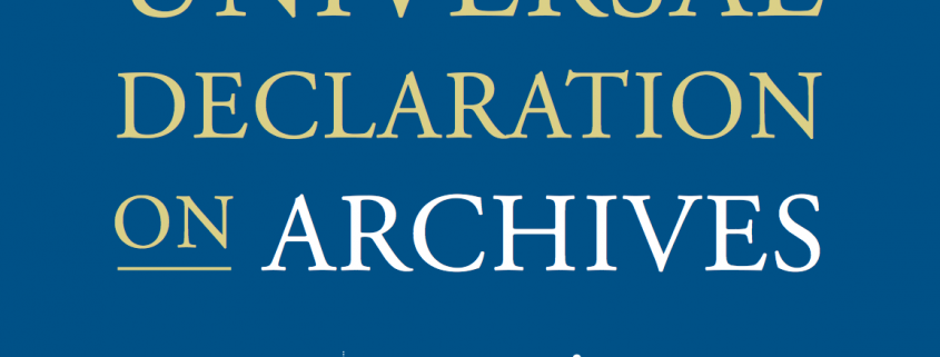 universal declaration of archives